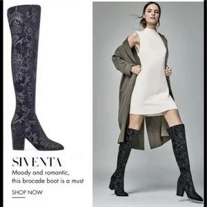 Nine West siventa over the knee boots vegan black